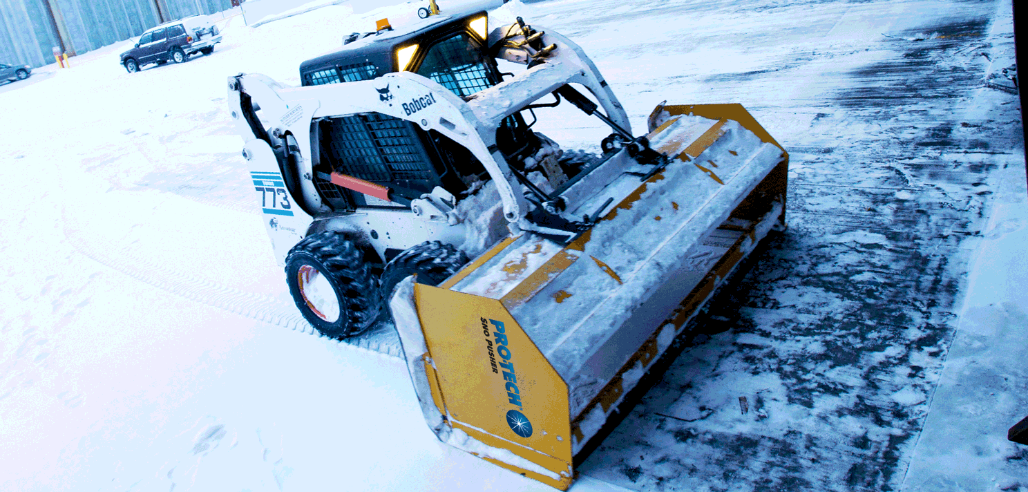 Pullback Back Drag Snow With Skid Steer Pro Tech Sno