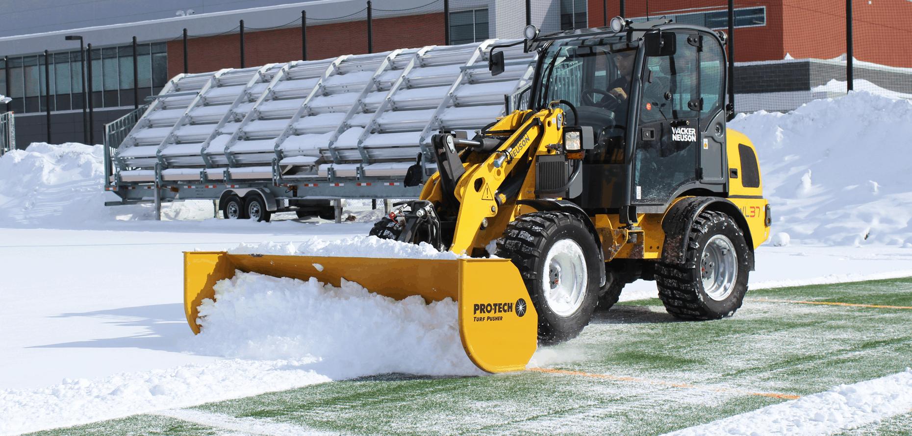 Turf Pusher Snow Plow For Turf Fields Pro Tech Sno Pusher