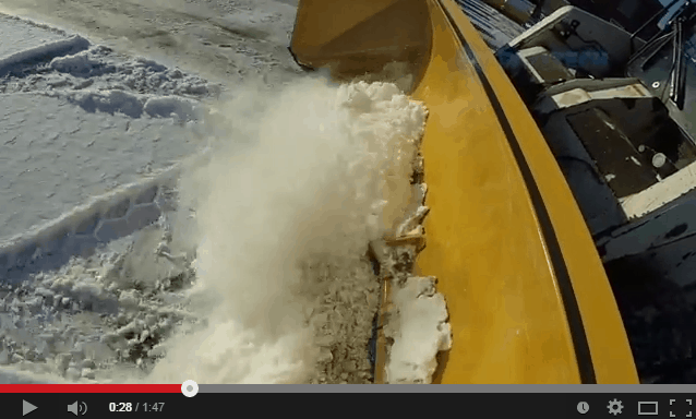 Steel Edge Sno Pusher Video