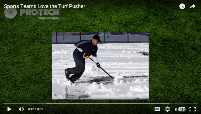 video shot for turf pusher