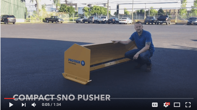 compact tractor sno pusher