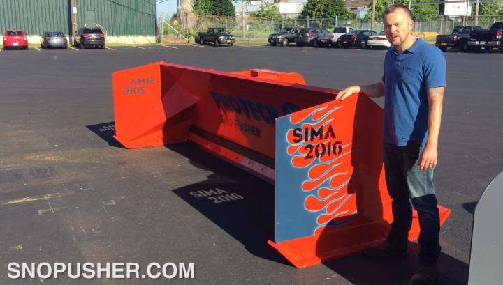 custom paint sno pusher