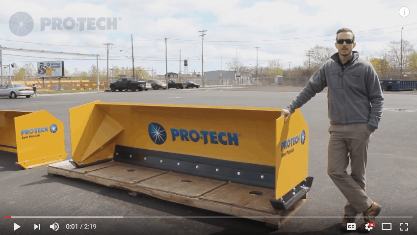 Compact Wheel Loader Snow Pusher