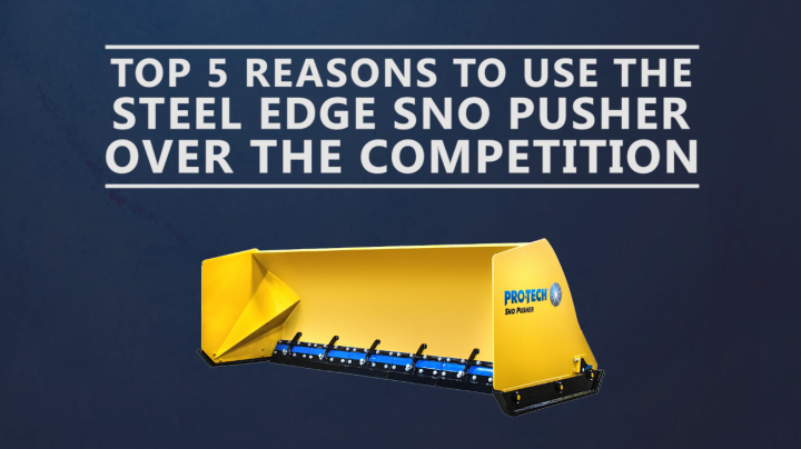 steel edge sno pusher