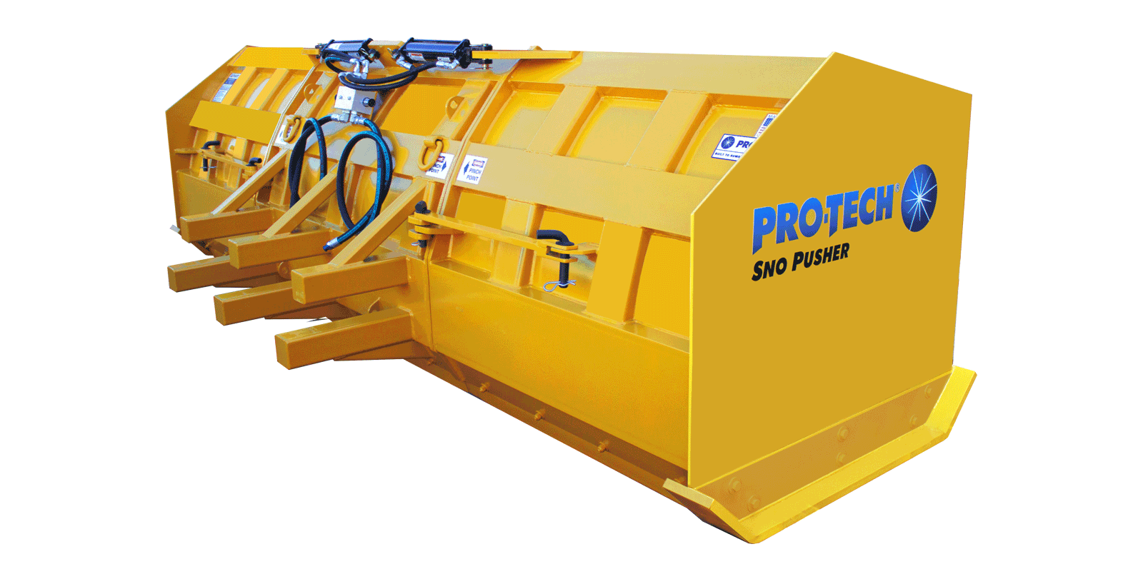 foldout snow pusher hydraulics