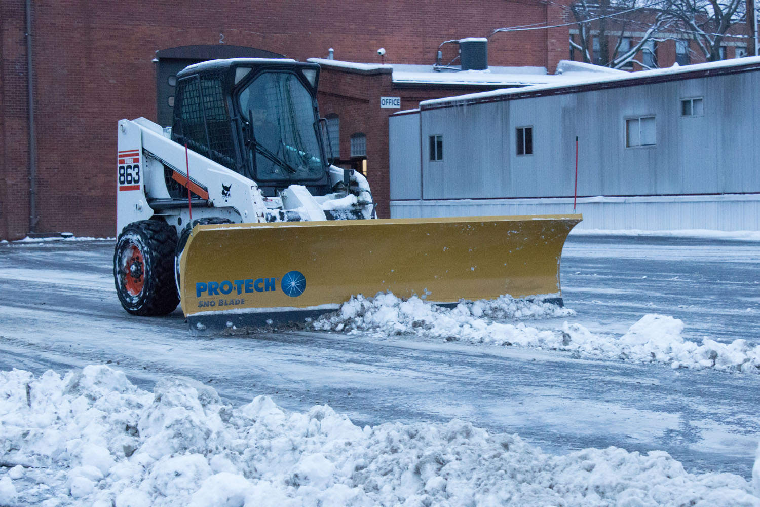 sno blade on skidsteer