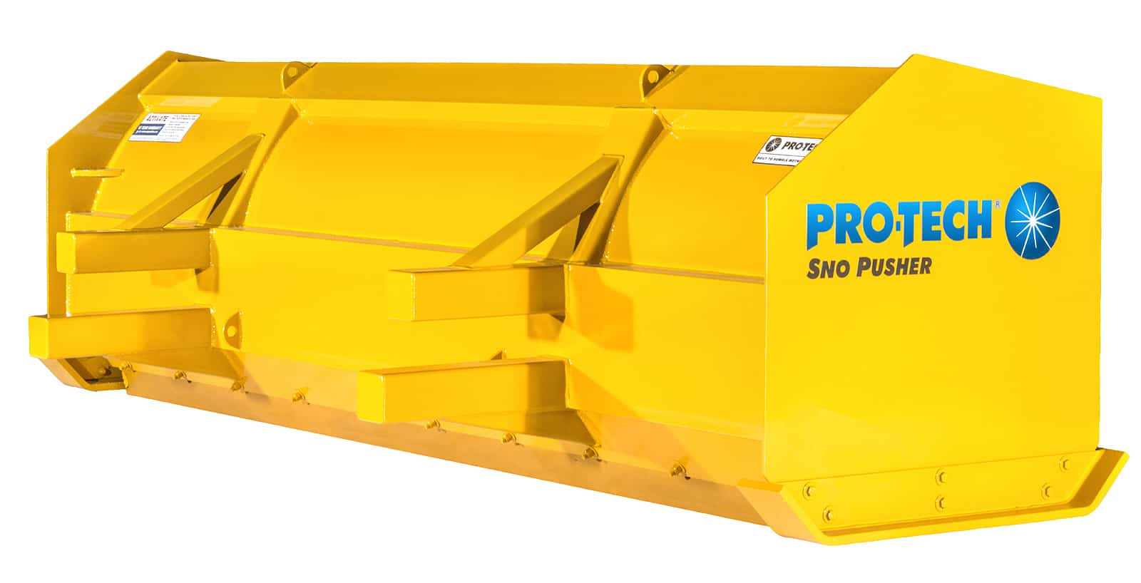 snow pusher for backhoes