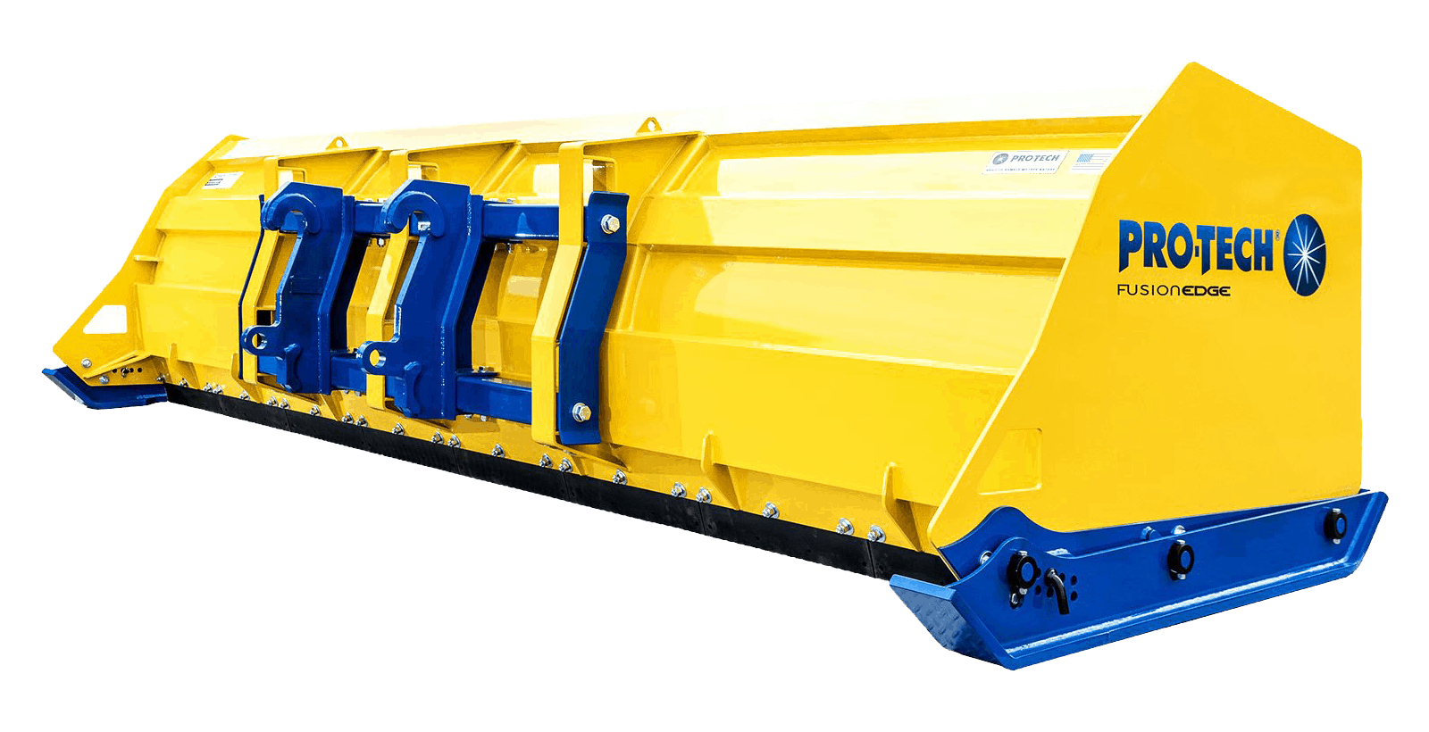 Sectional Snow Pusher For Loader and Skid Steer