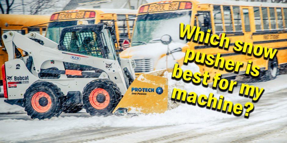skid steer snow pusher