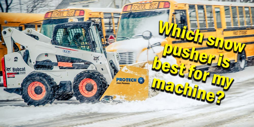 skid steer snow pusher