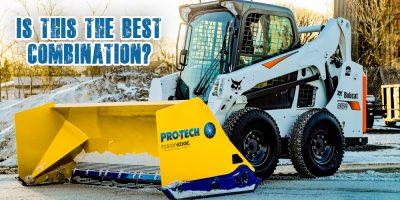 bobcat snow pusher