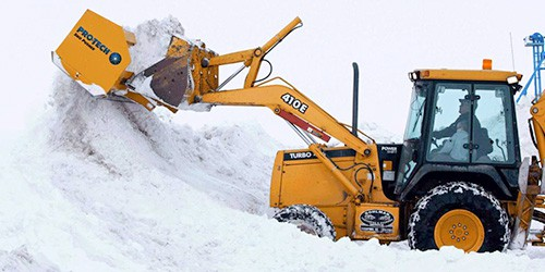backhoe snow pusher john deere
