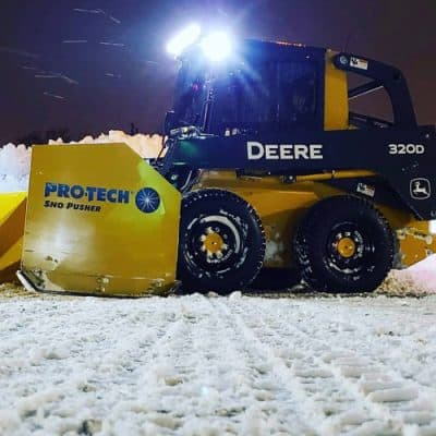 john deere snow pusher